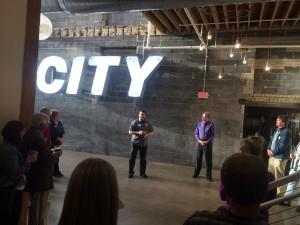 Co-Owner of 612 Brewery, Ryan Libby spreak to Waldorf Alumni group