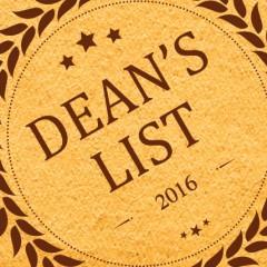Dean's List- Term 2A16